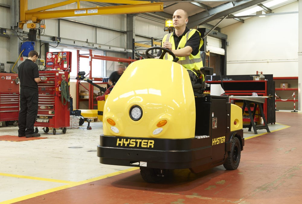 BHBW adds rider tow tractors to Hyster® lineup