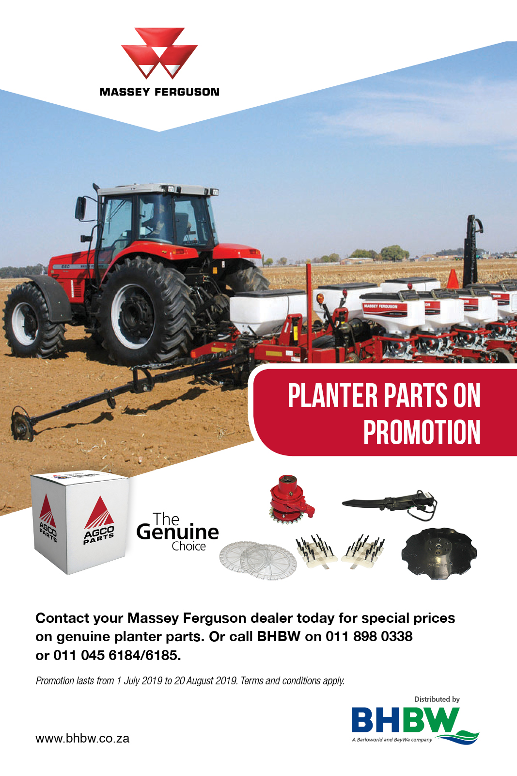 Planter parts on promotion - BHBW